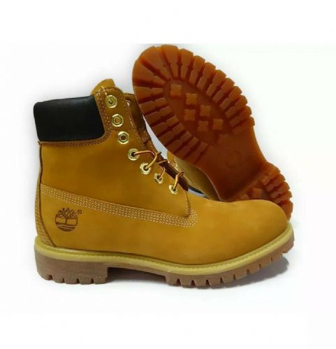 Timberland Mens 6 Inch Double Colla Premium Leather Work Boots Style 73540 Wheat